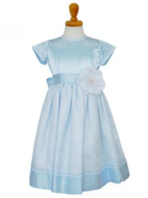 女の子ドレス日本製 015-BLブルー 100