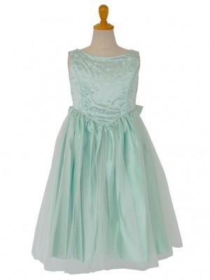 女の子ドレス 004-GRグリーン 110