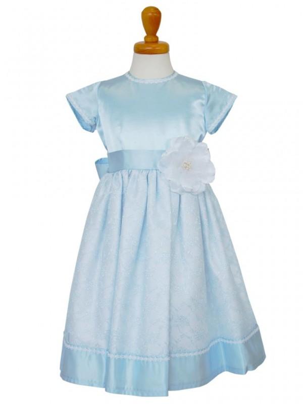 女の子ドレス日本製 015-BLブルー 110