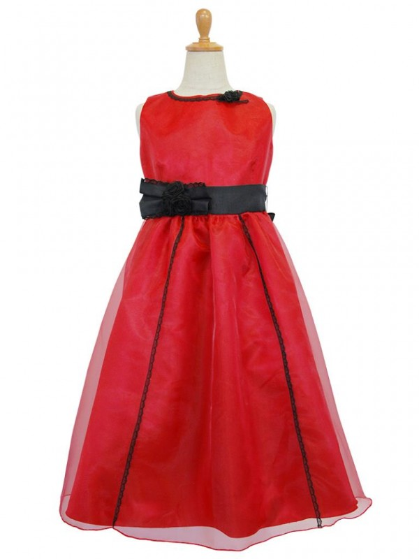 女の子ドレス日本製117reレッド 140