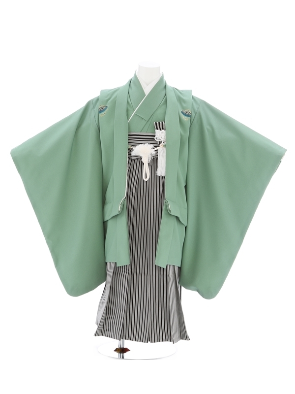 七五三(5歳男児)35/緑/こま紋