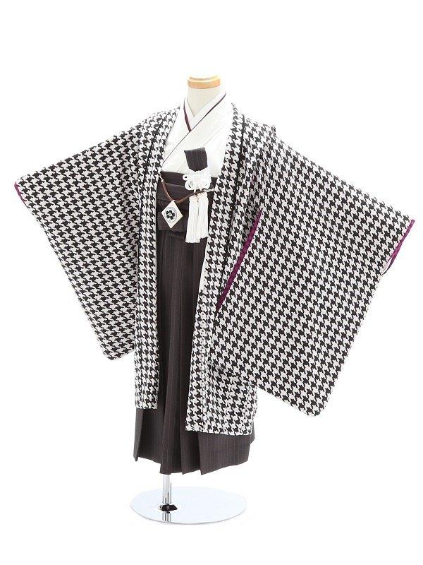 七五三(5歳男児)92/黒/千鳥格子