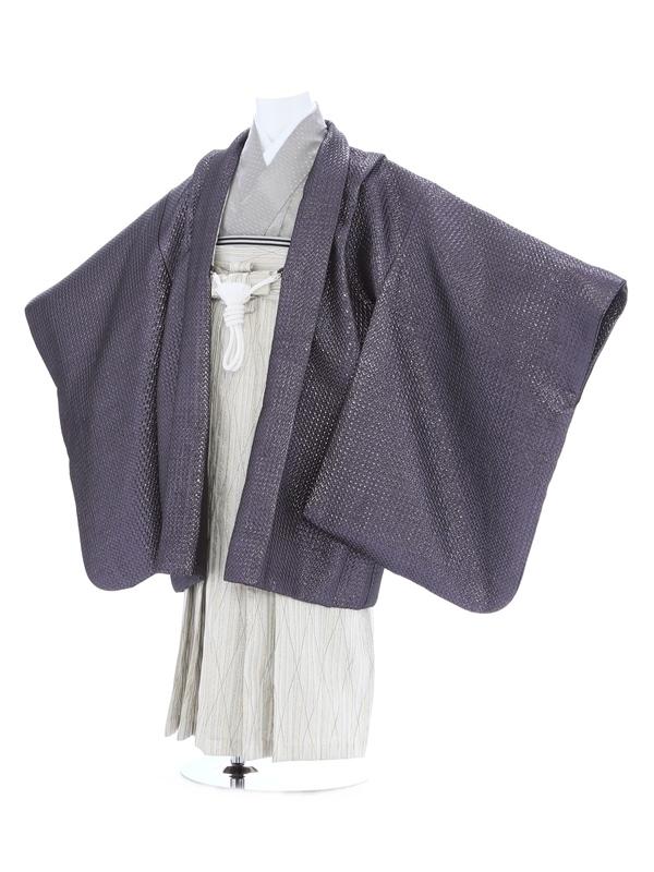 七五三(5歳男児)142/紫/ラメ織