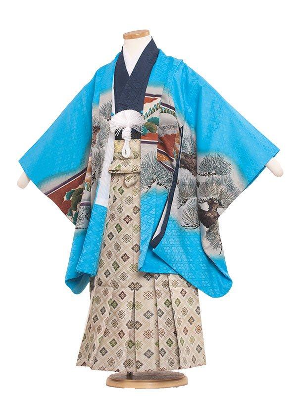 七五三レンタル(6歳男の子袴)6028 ライトブルー/タカ
