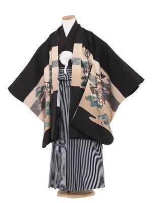 七五三レンタル(6歳男袴)6016 黒/兜