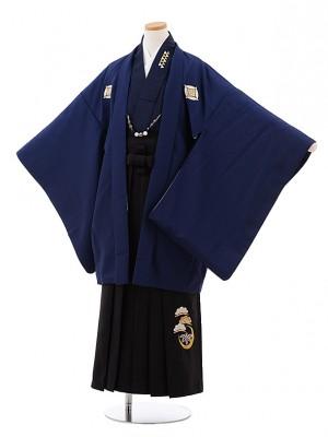 小学校 卒業式 男の子 袴 Z036 紺 しゃれ紋×黒袴