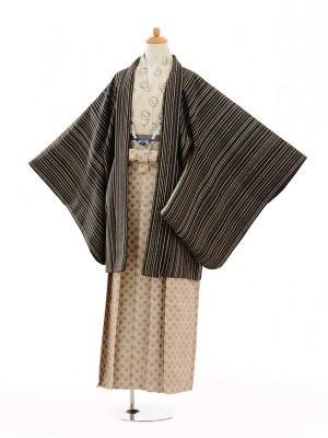 小学生 卒業式 袴 男児 9133紺茶ストライフプ×ベージ