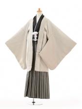 ジュニア袴男児9119シルバー紋付×黒シルバー袴