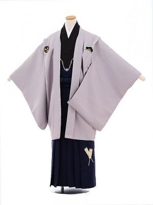小学校 卒業式 男の子 袴 9436 小町Kids グレー紋付×紺袴