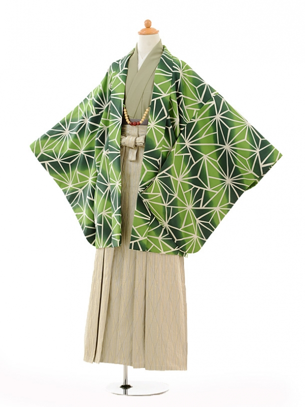 小学生卒業式袴男児9123緑変わり麻の葉×ベ