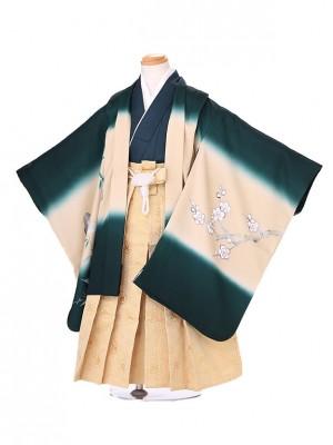 七五三レンタル(5歳男の子袴) 緑 桜 018