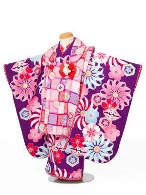 七五三(3才女児)3109ジャパンスタイル紫