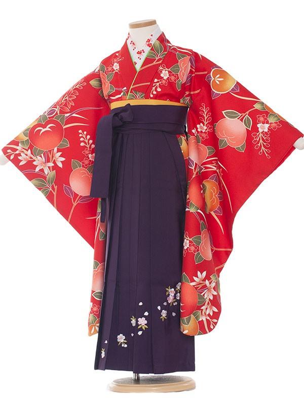 女児袴(7女) 9078 赤/たちばな/袴
