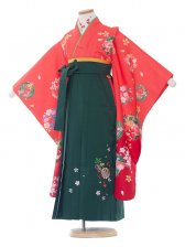 七五三(7女)9034 ピンク/雪輪と花/袴