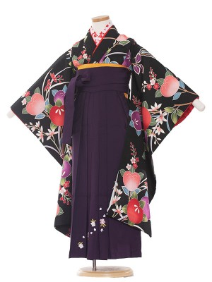 女児袴(7女) 9077 黒/たちばな/袴