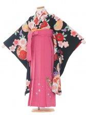 七五三(7女)9056 黒/ピンクの袴
