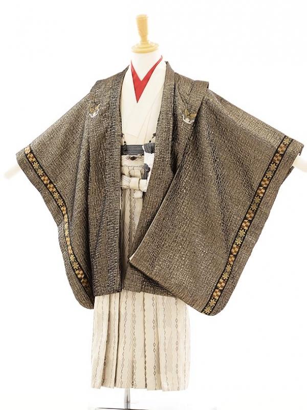 七五三(5歳男袴) F015 ひさかたろまん 黒×