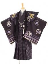 七五三(5歳男袴) F019 BLUE CROSS 黒陣羽織