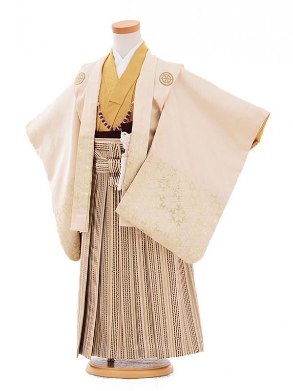 七五三(5歳男袴) F160 クリーム色 丸紋