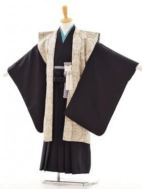 七五三(5歳男袴) F016 京モード ベージュ陣羽織