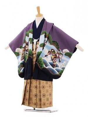 七五三(5歳男袴) F138 紫 のしめ鷹