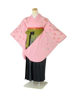 小学生卒業式袴女児c158パステルピンク×若草ぼかし