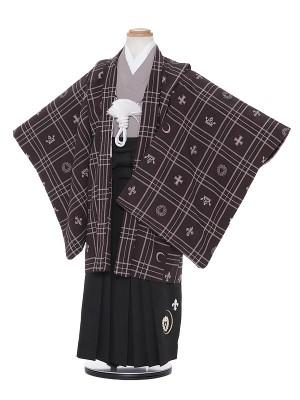七五三レンタル(5歳男袴)H507 SEIKO MATSUDA 黒地