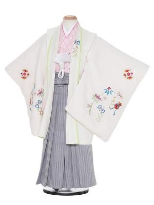 七五三レンタル(5歳男袴)H521 ベージュ地 宝