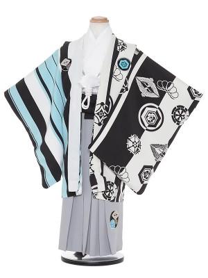 七五三レンタル(5歳男袴)H504 JAPAN STYLE 水色