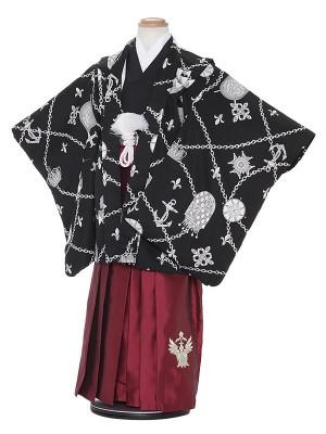 七五三レンタル(5歳男袴)H535 SHY KIDS 黒地