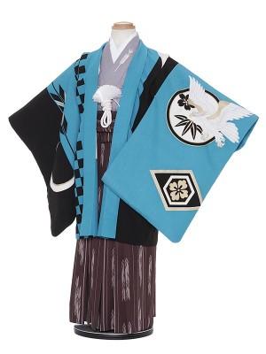 七五三レンタル(5歳男袴)H532 JAPAN STYLE 水色