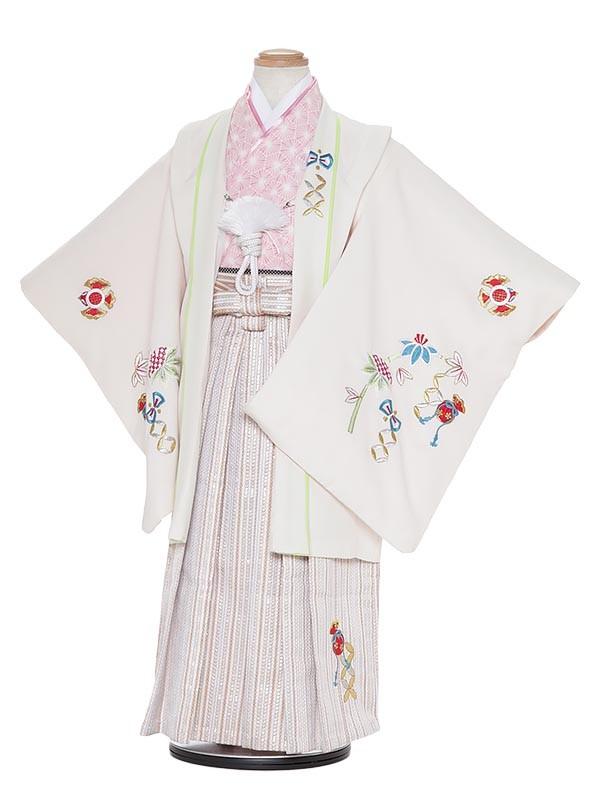 七五三レンタル(5歳男袴)H501 ベージュ地 宝