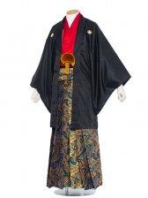 男性用袴 紋服6号黒赤/6B40