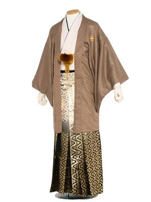 男性用袴 6号茶ラメ入りピンク/6X08