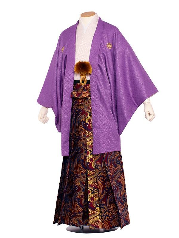 男性用袴 6号紫ラメ入りピンク/6X06