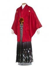 男性用袴 紋服6号赤色柄袴/6R20