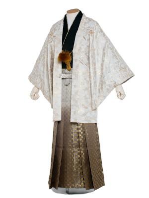 男性用袴 紋服6号 白地 さくら/6X30