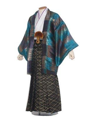 男性用袴 紋服6号おしゃれブルー/6N20