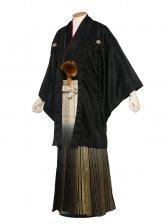 男性用袴(mo-kuro-1)紋服6号黒柄袴/6B10