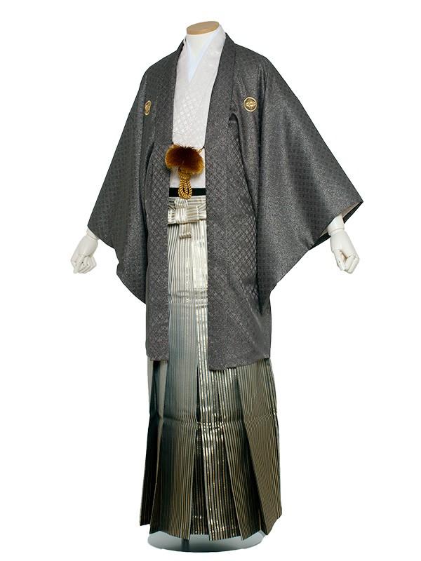 男性用袴 6号グレーラメ入りピンク/6X07