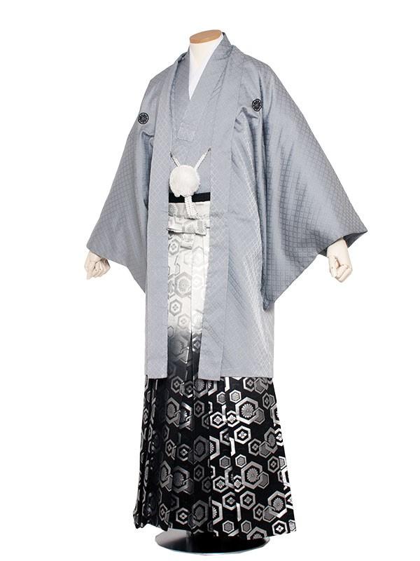 男性用袴 6号グレー格子/6G00