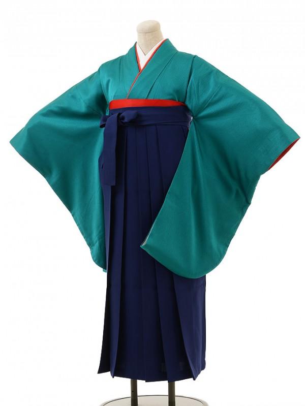 グリーン×紺袴