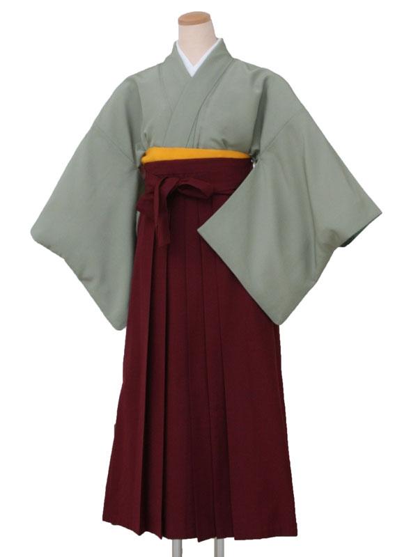 卒業袴レンタル 5220うぐいす一紋L