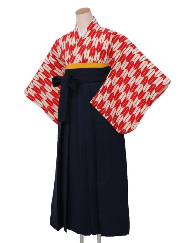 卒業袴レンタル 5120赤矢絣2