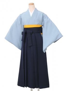 卒業袴レンタル 5110無地ブルー
