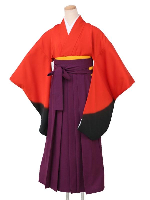 卒業袴レンタル 5030朱黒ぼかし