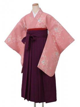 卒業袴レンタル 5010ピンク花