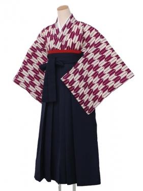 卒業袴レンタル 5130紫矢絣2