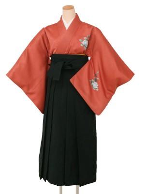 卒業袴レンタル520付下サーモン