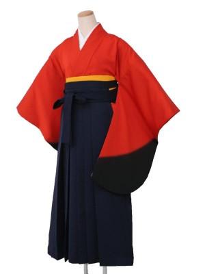卒業袴レンタル 5320朱黒ぼかし
